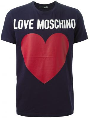 Футболки и жилеты Love Moschino. Цвет: синий
