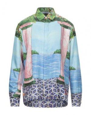 Pубашка CASABLANCA. Цвет: небесно-голубой