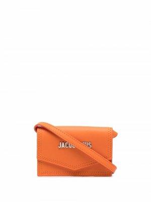 Кошелек Le Porte Azur с ремнем через плечо Jacquemus. Цвет: оранжевый