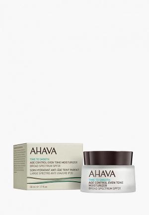 Крем для лица Ahava Time To Smooth ровный тон и профилактика старения spf20, 50 мл. Цвет: прозрачный