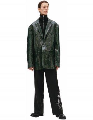 Зеленый пиджак из кожи Vetements
