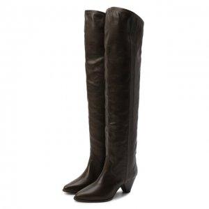 Кожаные ботфорты Remko Isabel Marant. Цвет: коричневый