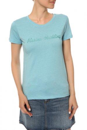 Футболка Marina Yachting. Цвет: голубой
