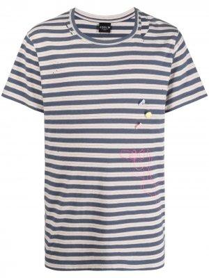 Полосатая футболка COOL T.M. Цвет: синий