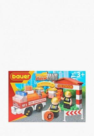 Конструктор Bauer Fireman набор пожарная машина и пожарный гидрант. Цвет: разноцветный
