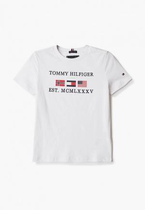 Футболка Tommy Hilfiger. Цвет: белый