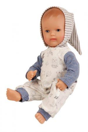 Кукла виниловая Денни 1 SCHILDKROET. Цвет: бежевый, голубой, серый, белый