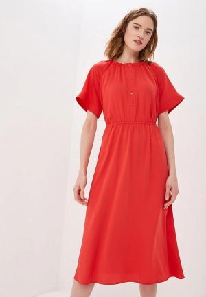 Платье Calvin Klein. Цвет: красный