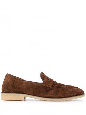 Лоферы с миндалевидным носком Alberto Fasciani. Цвет: коричневый