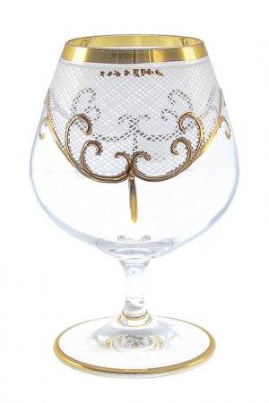 Набор бокалов Crystalite Bohemia. Цвет: прозрачный, золотой