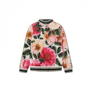 Хлопковая толстовка Dolce & Gabbana. Цвет: разноцветный