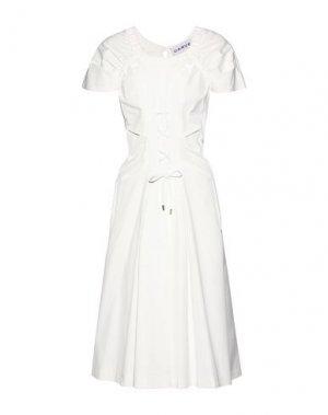 Платье до колена CARVEN. Цвет: белый