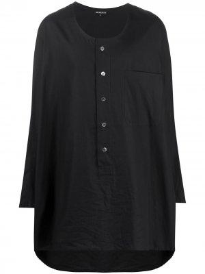 Рубашка хенли оверсайз Ann Demeulemeester. Цвет: черный