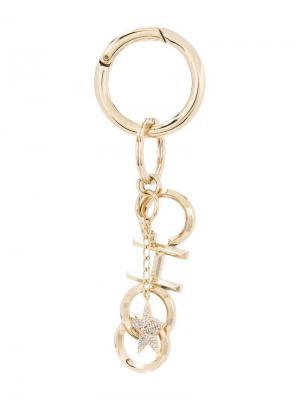 Брелок для ключей с кристаллами Jimmy Choo. Цвет: золотистый