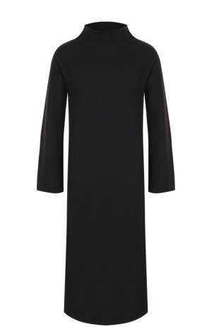 Кашемировое платье-миди с высоким воротником Loro Piana. Цвет: темно-серый
