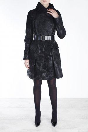 Кожаное пальто Kaufmanfranco. Цвет: черный
