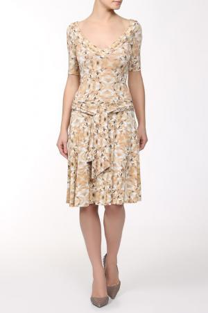 Платье Gio Guerreri. Цвет: бежевый
