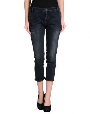 Джинсовые брюки-капри MELTIN POT. Цвет: темно-синий