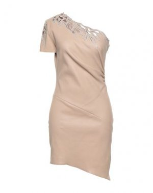 Короткое платье JITROIS. Цвет: телесный