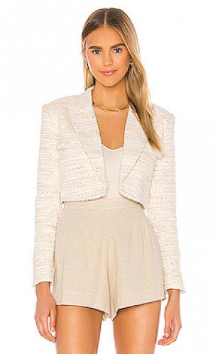 Укороченный пиджак anika LAcademie L'Academie. Цвет: ivory