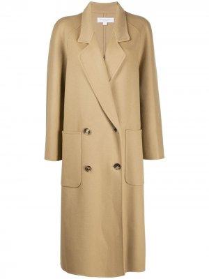Двубортное пальто оверсайз Michael Kors. Цвет: нейтральные цвета