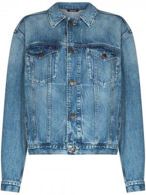Джинсовая куртка оверсайз на пуговицах Maison Margiela. Цвет: синий