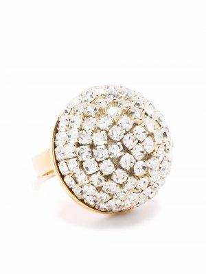 Blossom crystal-embellished ring La Doublej. Цвет: золотистый