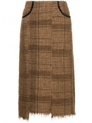 Твидовая юбка миди 08Sircus