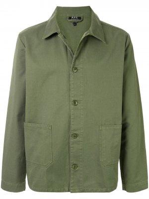Куртка Kerlouan прямого кроя A.P.C.. Цвет: зеленый