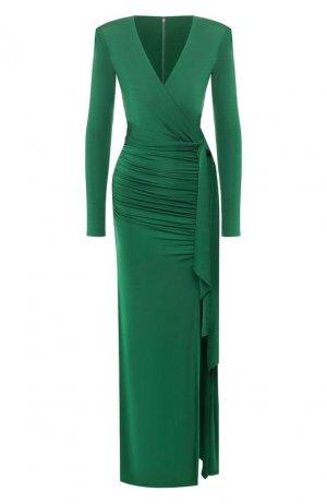 Платье Alice + Olivia. Цвет: зелёный