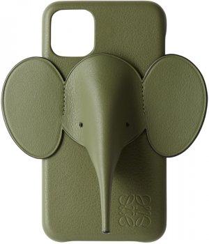 Green Elephant iPhone 11 Case Loewe. Цвет: 3949 green