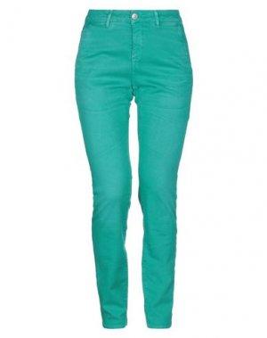 Повседневные брюки CARE LABEL. Цвет: изумрудно-зеленый