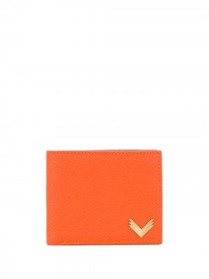 Кошелек с металлическим логотипом Manokhi. Цвет: оранжевый