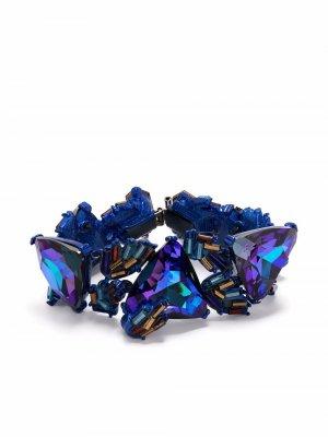 Браслет 1990-х годов с кристаллами Christian Lacroix Pre-Owned. Цвет: синий
