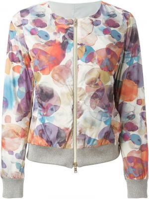 Двухсторонняя куртка-бомбер Herno. Цвет: серый