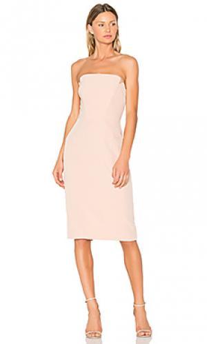 Миди-платье без бретелек JILL STUART. Цвет: румянец