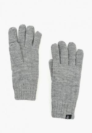 Перчатки Tom Tailor Denim TO793DMBXEX0. Цвет: серый