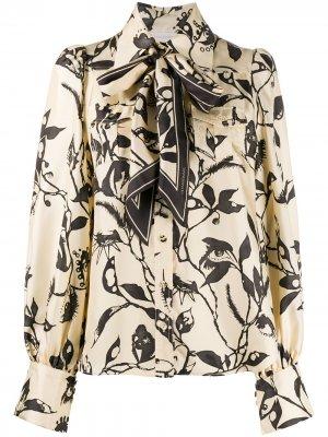 Рубашка Ladybeetle с шарфом Zimmermann. Цвет: нейтральные цвета
