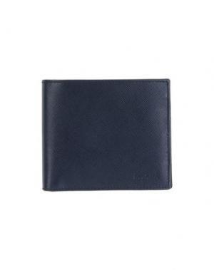Бумажник PRADA. Цвет: темно-синий