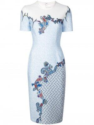 Платье Venice с принтом Yigal Azrouel. Цвет: синий