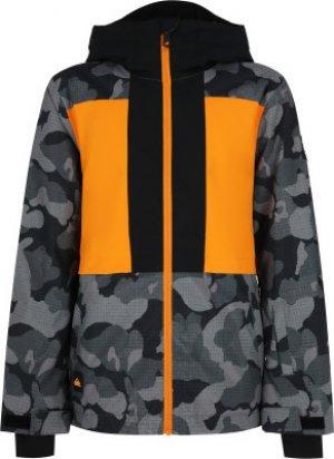 Куртка утепленная для мальчиков Groomer, размер 146-152 Quiksilver. Цвет: серый
