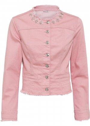 Куртка джинсовая bonprix. Цвет: лиловый