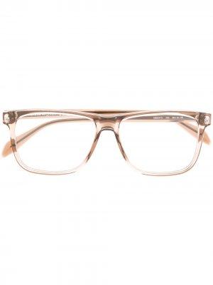 Очки в прямоугольной оправе Alexander McQueen Eyewear. Цвет: коричневый