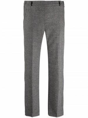 Укороченные брюки прямого кроя Seventy. Цвет: серый
