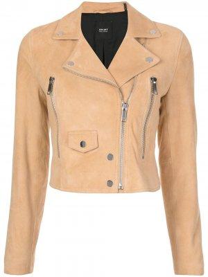 Укороченная куртка Lth Jkt. Цвет: коричневый