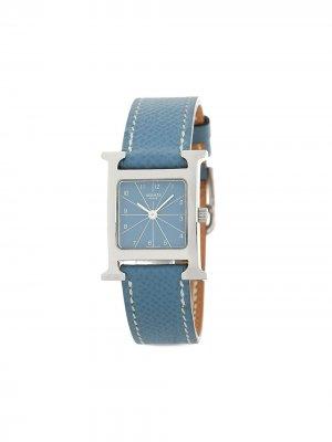 Наручные часы Heure H pre-owned 32 мм Hermès. Цвет: синий