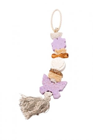 Декоративная косичка из мыла La Savonnerie de Nyons. Цвет: белый, розовый, фиолетовый