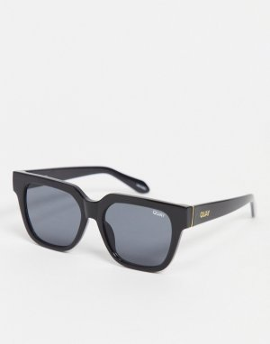 Черные квадратные солнцезащитные очки в стиле унисекс Quay PSA-Черный Australia