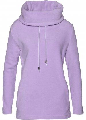 Пуловер из флиса bonprix. Цвет: лиловый