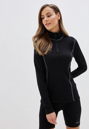 Термобелье верх Bergans of Norway Akeleie Lady Half Zip. Цвет: черный